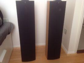 KEF iQ7 floorstanding speakers .