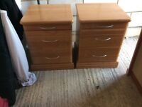 Chest of drawers and 2 bedside cabinets to match