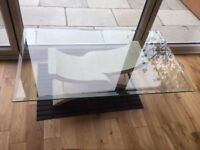Stone and glass coffee table