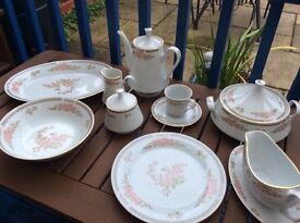 Dinner Set with tea cups and saucers