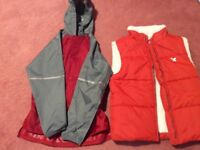 Muddy puddles waterproof jacket and padded gillet