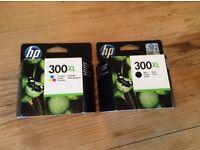HP 300XL black and tri-colour ink cartridges
