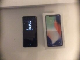 IPHONE X 256GB in SILVER sealed no sim ever installed UNLOCKED
