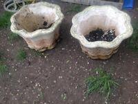 Large stone plant pots
