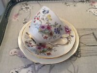 Royal Stafford Bideford Bone China Trio.