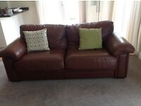 3 Seater & 2 Seater Genuine Leather Sofas