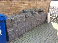 1000 used grey block paving bricks-great condition