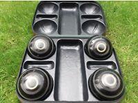 Cased set of 4 RINKMASTER R.G.LAWRIE SZE 5's Lawn bowls black
