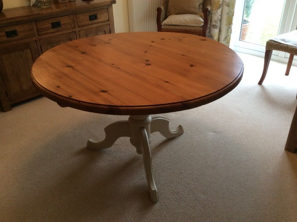 46 Inch Round Table.Solid Pine 46 Inch Diameter Round Table In Hayling Island Hampshire Gumtree