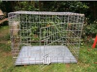 Dog ( animal) cage. Large folding