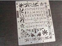 Fiskar 5625 Shapeboss Stencil Script letters