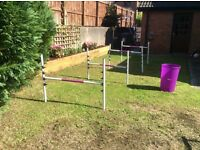 Mini jumps - equestrian style jumps for children