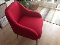 Habitat Momo tub chair in red (new)