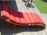 Bora Bora sunlounger with cushion