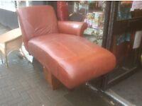 Brown chaise lounge sofa