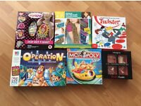 Selection of kids board games/crafts