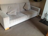 Sterling sofa and footstool