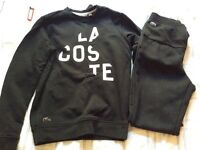 Men's Lacoste tracksuit black size small