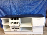 Quantity of ex pharmacy fittings and shelving. MDF and in good condition. Job lot or will split.