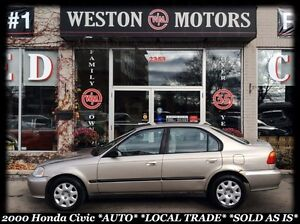 2000 Honda Civic Special Edition *AUTO *LOCAL TRADE *SOLD AS IS!