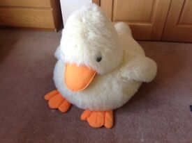 Big yellow duck cuddly toy