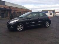£1795, 1.4 ltr petrol,207 elite , 10 months test