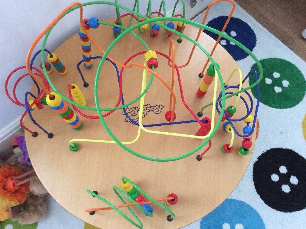 Joy Toy Wooden Beads Table In Rochester Kent Gumtree
