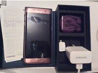 Samsung Galaxy s7 edge rose gold broken screen