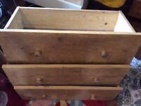 Underbed storage drawers x 3