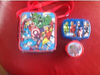 Lunch bag with matching sandwich box and nibble box