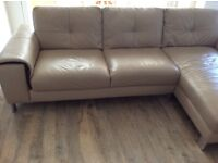 For sale right hand facing Harvey's sphere range corner sofa with separate headrests