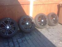 Vauxhall vectra 17 inch alloy wheels five stud