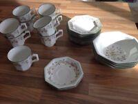 Eternal Beau part set. 9 Plates,9 Cups,2 Saucers,4 Bowls. £10