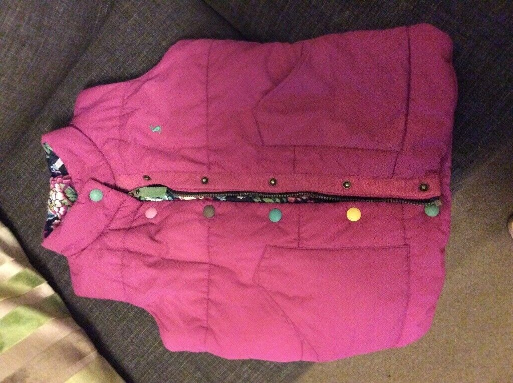 Girls age 9-10 years Joules pink gilet