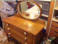 Dresser with mirror ( vintage items)