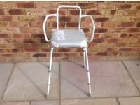ASSISTIVE/DISABILITY SHOWER SEAT.. FREESTANDING....£10