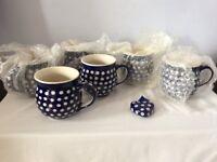 6 Polish Pottery Mugs