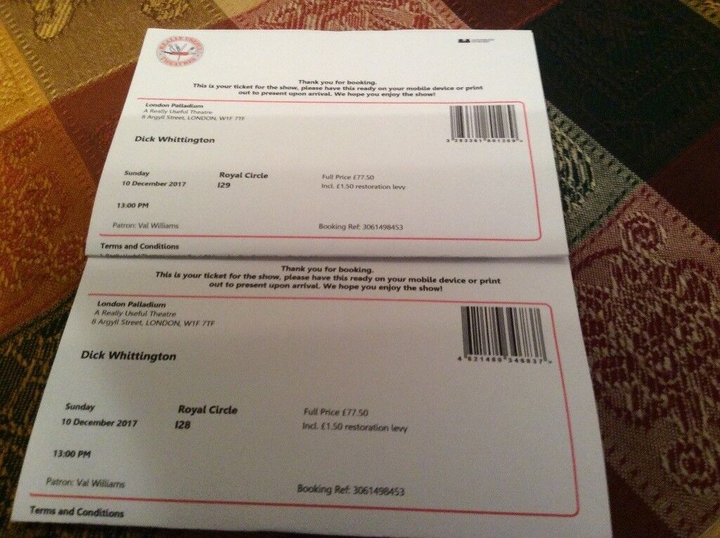 London Palladium Panto Tickets