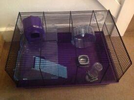 Large purple hamster cage, like new