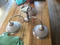 Light Fitting ( American Diner Style) 3 arm type as photos