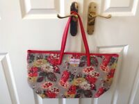 Cath Kidston bag, shopper, Tote with leather handles and trim