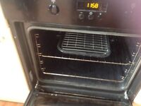 Zanussi integrated electric fan oven and grill plus zanussi ceramic hon