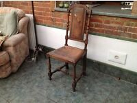 Oak Antique chairs, 6 chairs, 2 carvers