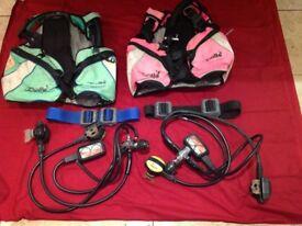 Apollo Scuba Diving Equipment - Regulators, belt with weights, buoyancy compensator