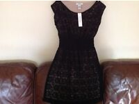 Beautiful ladies black lace dress, new with tags, size L , £10,open to offers.