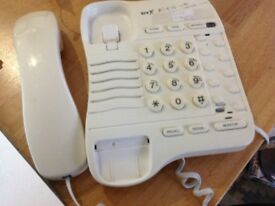 Telephone, with cord to be plugged in - cream white