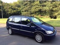 VAUXHALL ZAFIRA 2.0DTI. 7 SEATER DIESEL. ONE OWNER FROM NEW. FULL MAIN DEALER SERVICE HISTORY