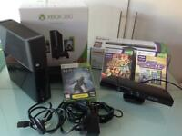 XBox360 250gb Console/Kinect/2 Controllers/Venom Docking Station/Games