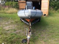 Avon searider 5.4m, Yamaha 90hp rib boat
