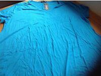 Women's Blue Short Sleeve Top 5 xl